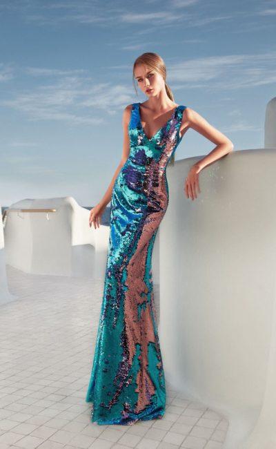 Блестящее модное платье