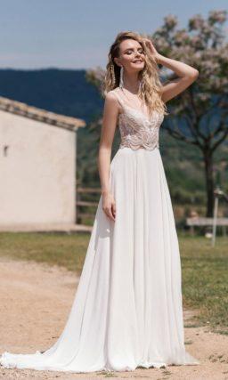 свадебное платье в стиле кроп-топ