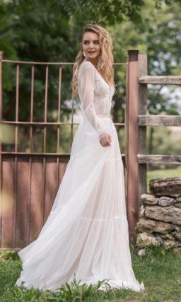 свадебное платье-трансформер молочного оттенка