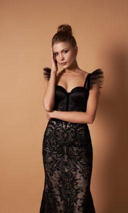 Вечернее платье силуэта «русалка»