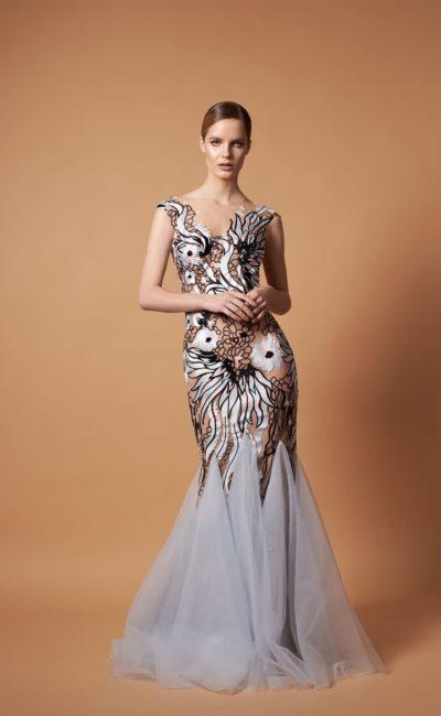 Длинное вечернее платье «русалка»