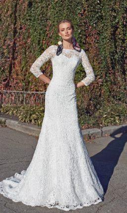 Кружевное свадебное платье «русалка»