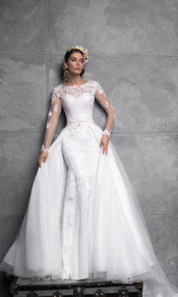 кружевное свадебное платье-транформер «русалка»