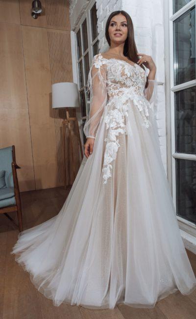 Платье с длинными рукавами большого размера