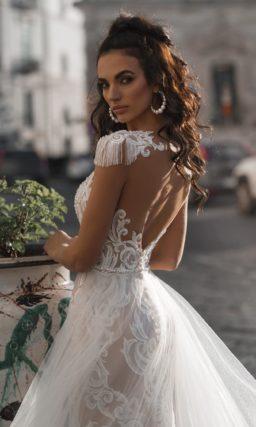 Оригинальное свадебное платье силуэта «русалка»
