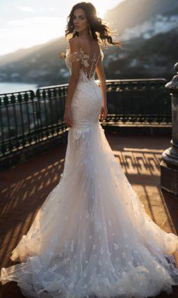 Свадебное платье силуэта «русалка» с роскошным декором