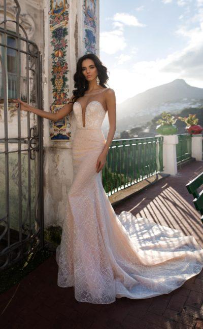 Платье русалка с расколотым корсетом