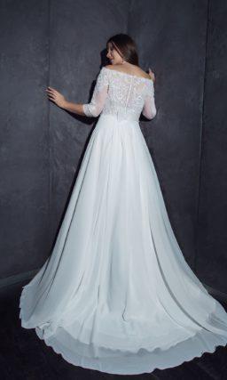 свадебное платье с рукавами на полную фигуру