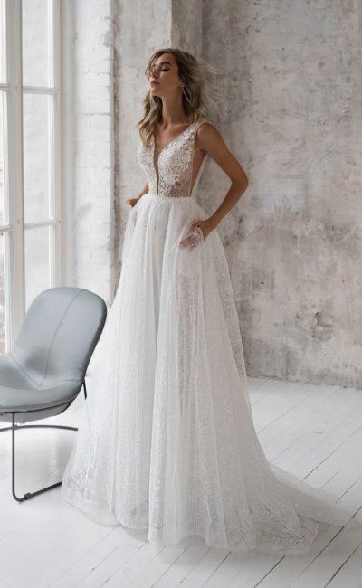 свадебное платье с корсажем в стиле nude