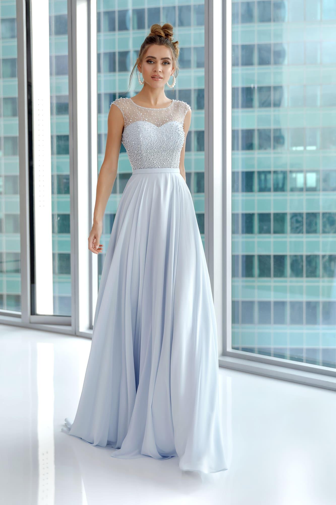 ceb637759d6 Вечернее платье Nora Naviano 32405B sky blue. Купить вечернее платье в  салоне Валенсия (Москва)