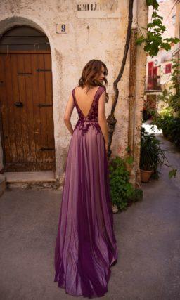Длинное платье силуэта «русалка»