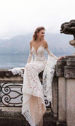 ажурное свадебное платье силуэта «русалка»