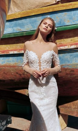 Чувственное свадебное платье-русалка