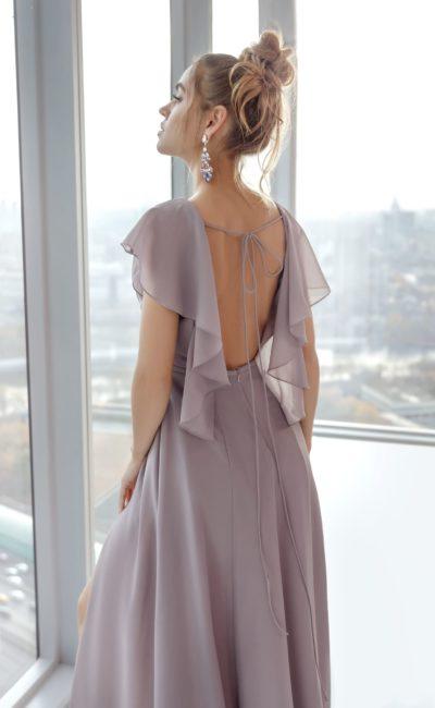 Вечернее платье из лавандового шифона