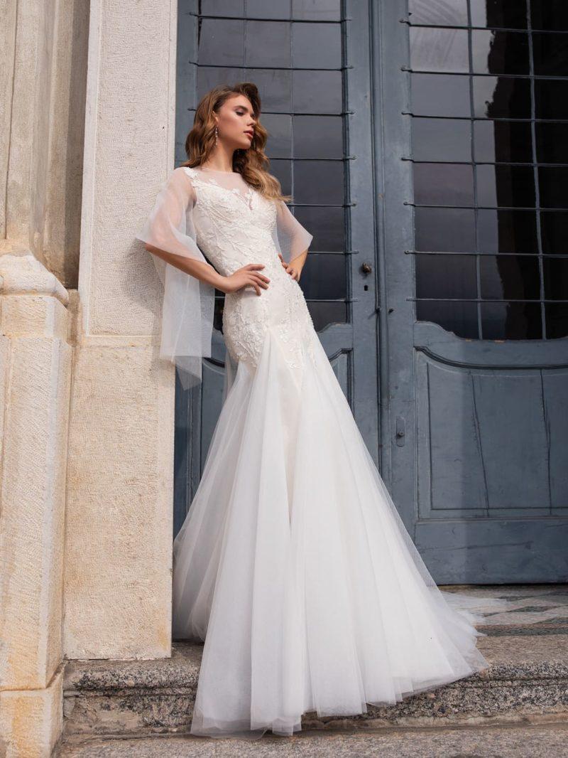 Свадебное платье-рыбка цвета айвори