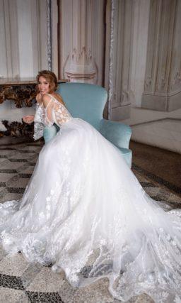 свадебное платье с ажурным декором