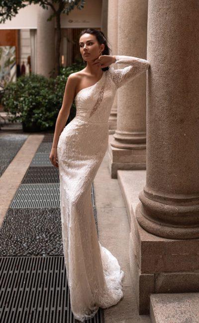 Платье «русалка» на одно плечо