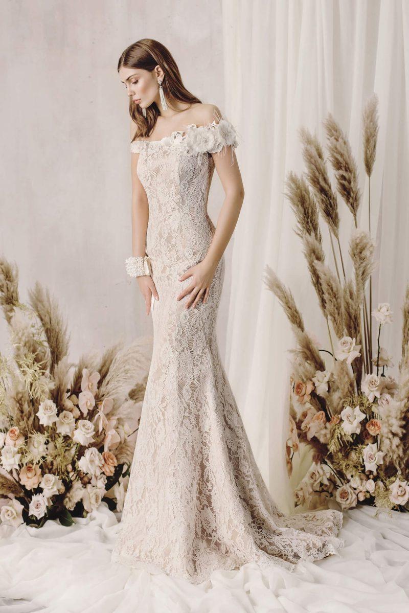 Свадебное платье силуэта «русалка» из роскошного кружева