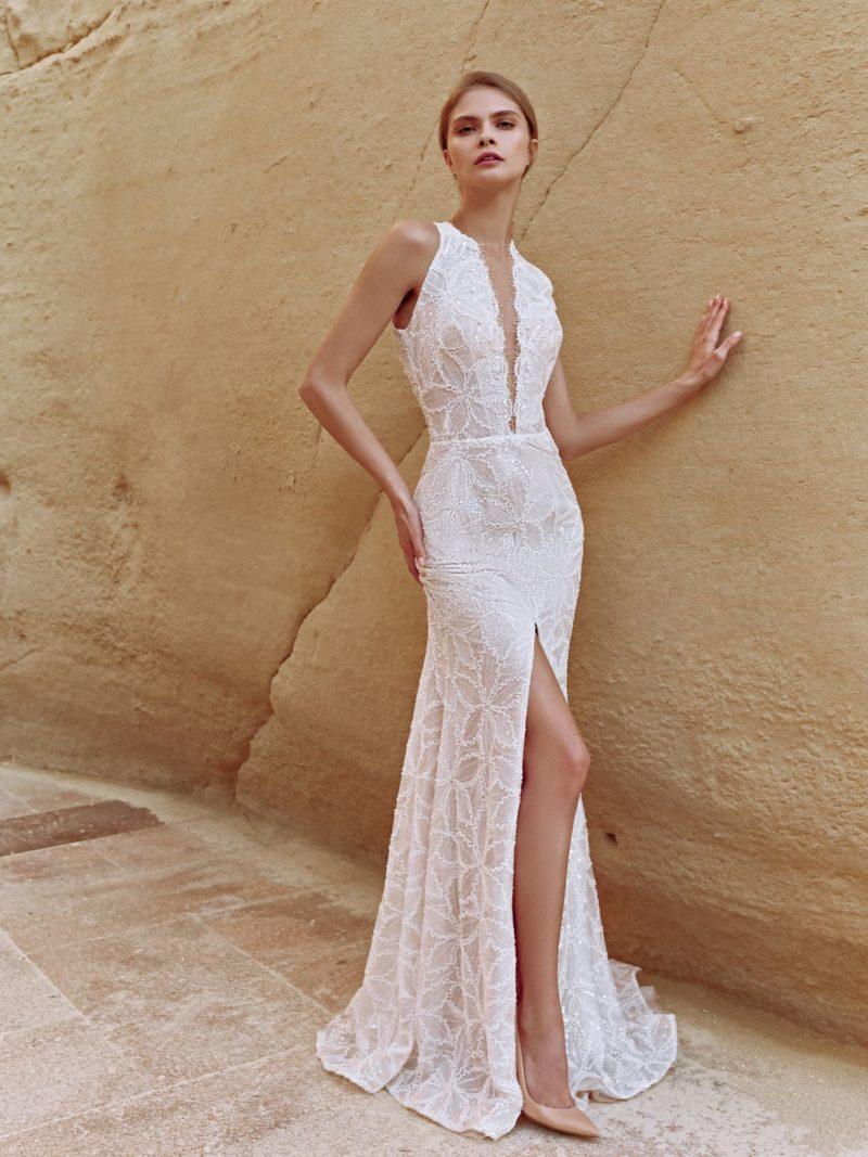 Свадебное платье-рыбка с облегающим силуэтом
