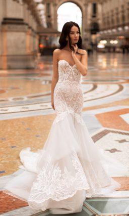 Свадебное платье-русалка цвета айвори