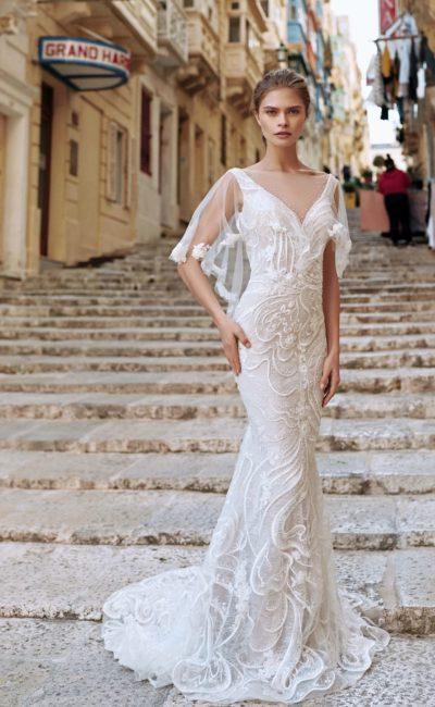 Кружевное свадебное платье-русалка