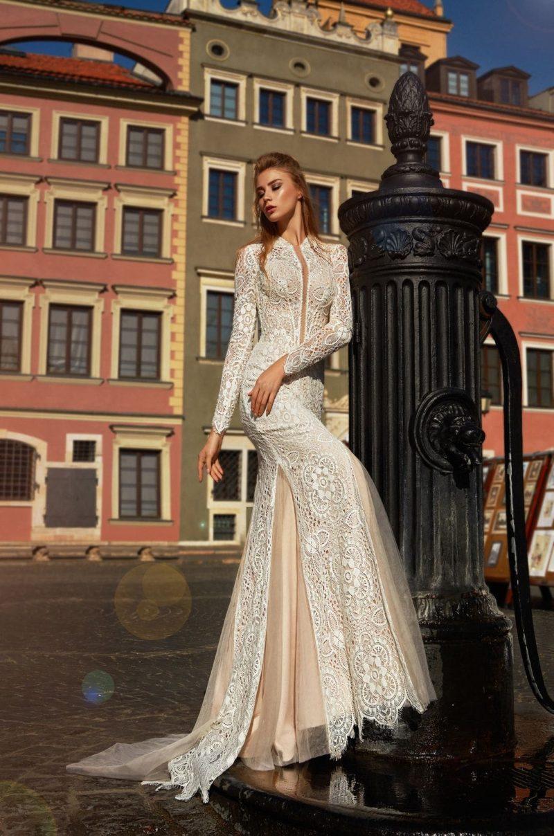 свадебное платье силуэта «русалка» в винтажном стиле