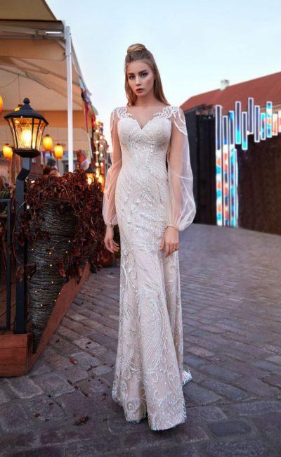 Платье русалка с вышивкой