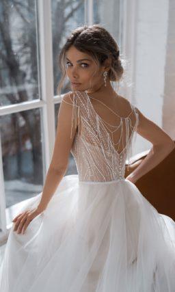 Пышное свадебное платье классического силуэта