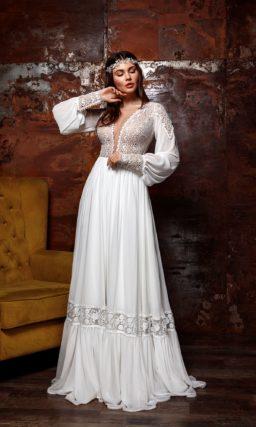 Платье бохо с рукавом