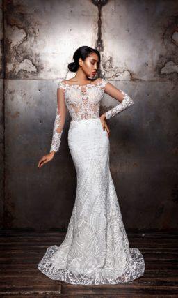 свадебное платье силуэта «русалка»