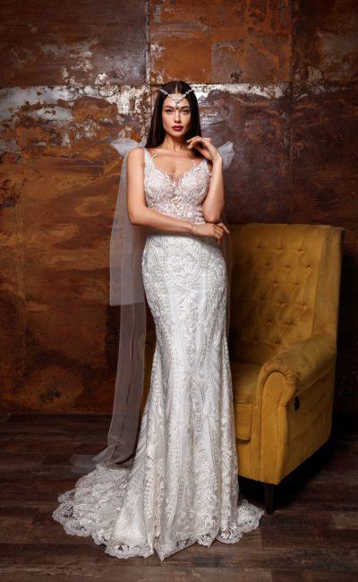 Стильное свадебное платье «рыбка»