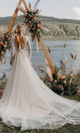 Свадебное платье цвета айвори в бельевом стиле