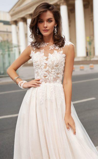 свадебное платье в оттенке пудры
