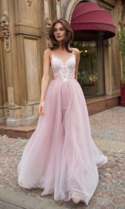 Свадебное платье-трансформер пепельно-розового оттенка