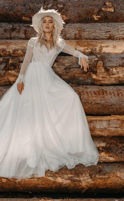 свадебное платье бохо-шик