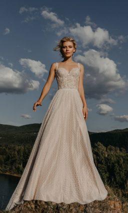 Летнее свадебное платье пудрового цвета