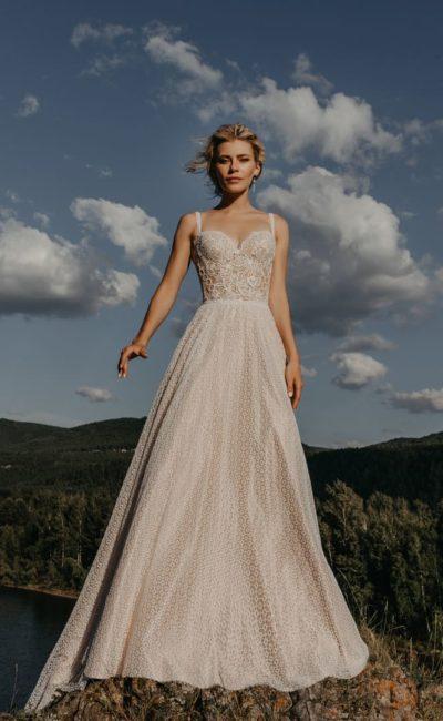 Летнее свадебное платье из кружева