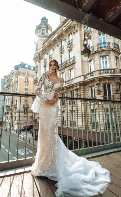 декорированное свадебное платье