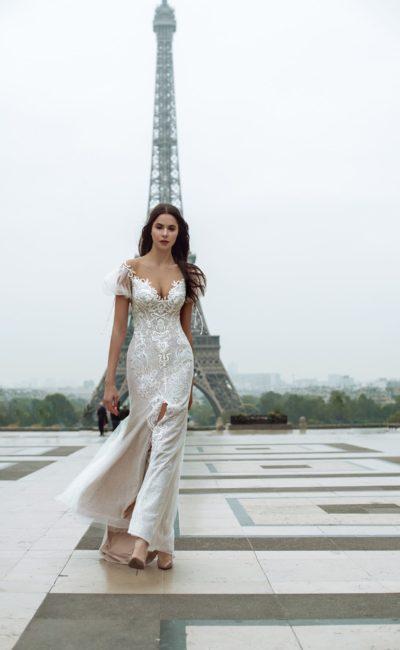 свадебное платье с облегающим силуэтом