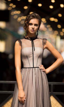 Вечернее платье с эффектом nude