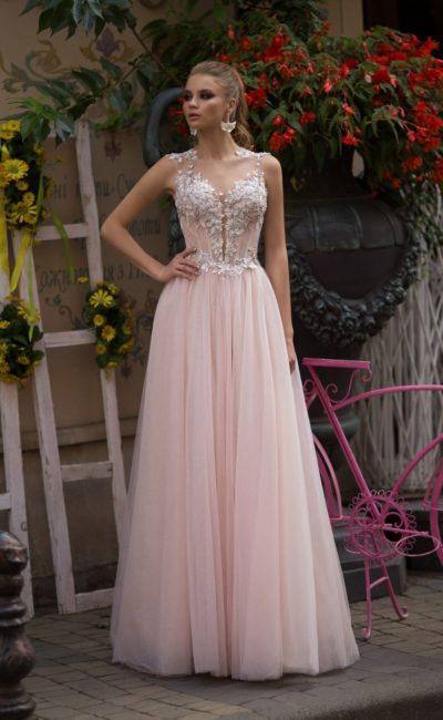 Выпускное платье с длинной юбкой