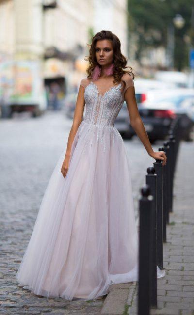 Выпускное платье с юбкой в пол