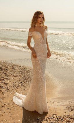Облегающее свадебное платье силуэта рыбка
