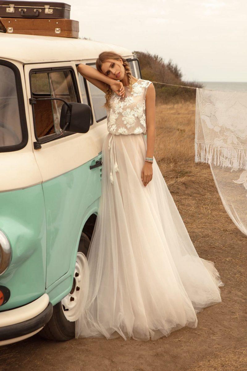 Легкое свадебное платье в стиле бохо