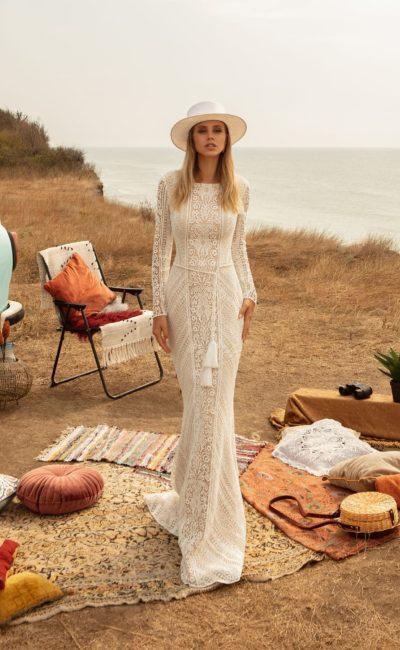 Кружевное платье русалка в стиле бохо