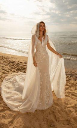 свадебное платье цвета бежевого айвори