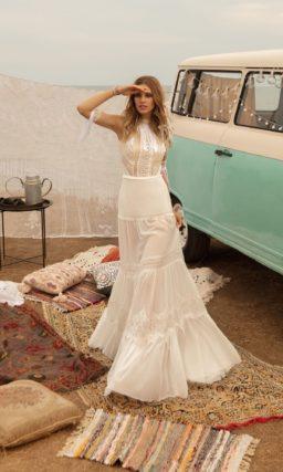 приталенное свадебное платье в стиле бохо