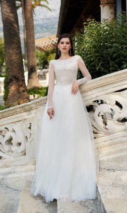 Свадебное платье закрытое с рукавами