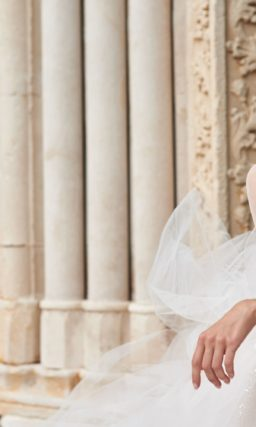 Воздушное свадебное платье из фатина