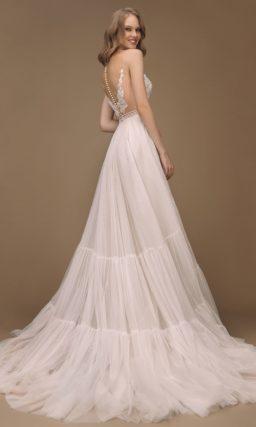 Летнее пышное свадебное платье